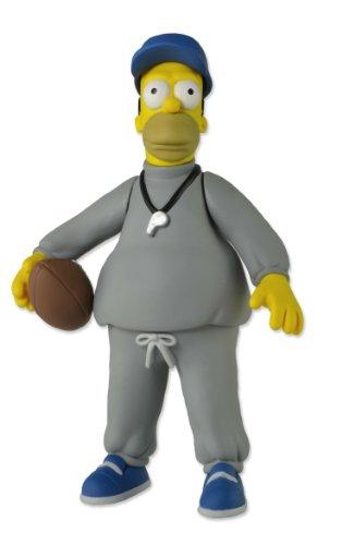 NECA 16006 Simpsons Homer Coach - Figura de acción, Color Gris, Azul y Amarillo, 12,7 cm