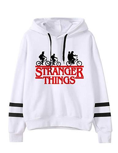 VERROL Sudadera Stranger Things para niña, Sudadera con Capucha de Stranger Things con Estampado de Letras, Sudadera Stranger Things Temporada 3, Sudadera Deportiva y de Ocio para Unisex