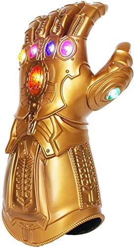 solo vendedor 'starmoon' !!! Iron Man Infinity Gauntlet para niños con 2 pilas recambio, Iron Man Glove LED con piedras para niños 0-12