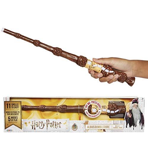 HARRY POTTER Varita Magica Con Hechizos Interactive Wizard Wand Exclusive Wave Dumbledore 38 cm, multicolor, Talla única (Elbenwald 73212) , color/modelo surtido