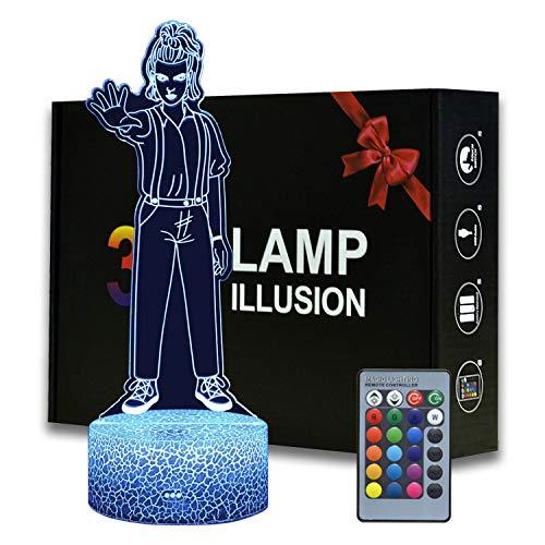 Magiclux para cosas extrañas regalos de fanáticos 3d Ilusión Luz Nocturna Plástico Lámpara De Mesa De Dibujos Animados Con Mando A Distancia 16 Colores Cambian