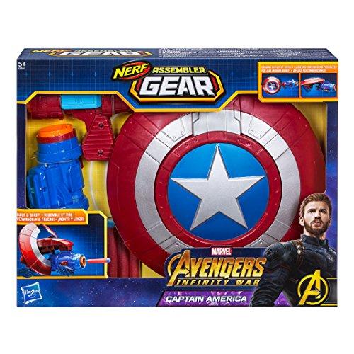 Marvel Avengers- Assembler Gear Capitán América, Talla única (Hasbro E0567EU4)