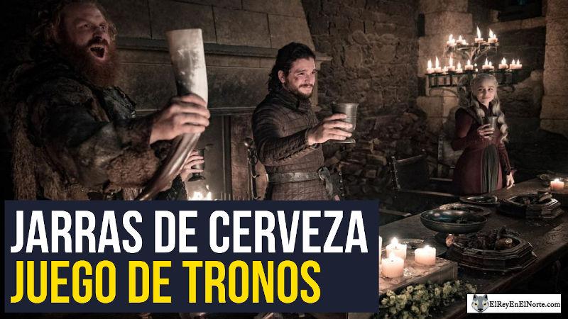 jarras de cerveza de juego de Tronos